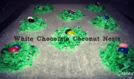white chocolate coconut bird's nest