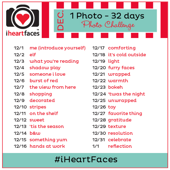 I Heart Faces December Photo Challenge