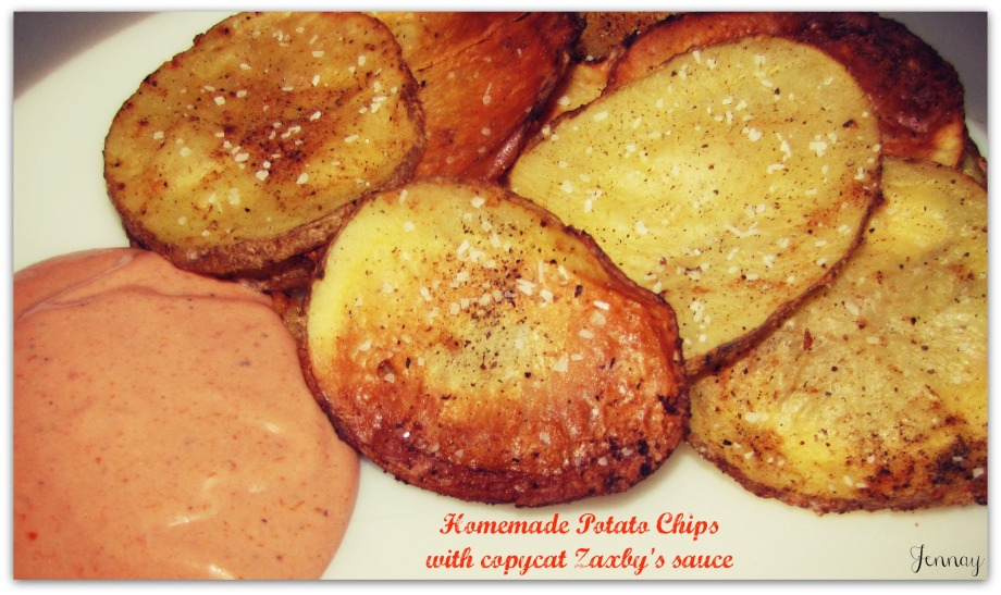 Homemade Potato Chips with Copycat Zaxby's Sauce | A Day In the Life ...