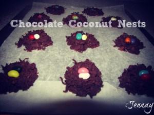 chocolate coconut bird's nest